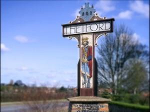Thetford Town Sign