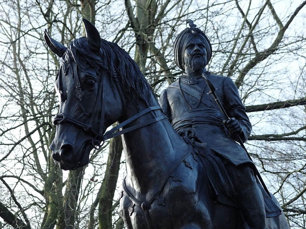 Duleep Singh statue in Thetford