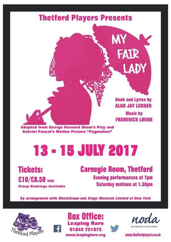 Thetford Players present My Fair Lady