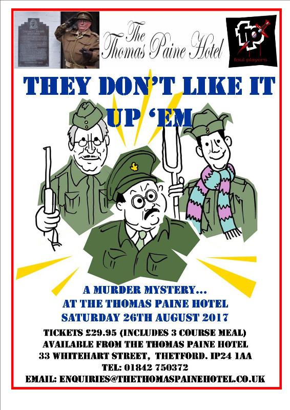 The Thomas Paine Hotel & Restaurant Dads Army Murder Mystery!