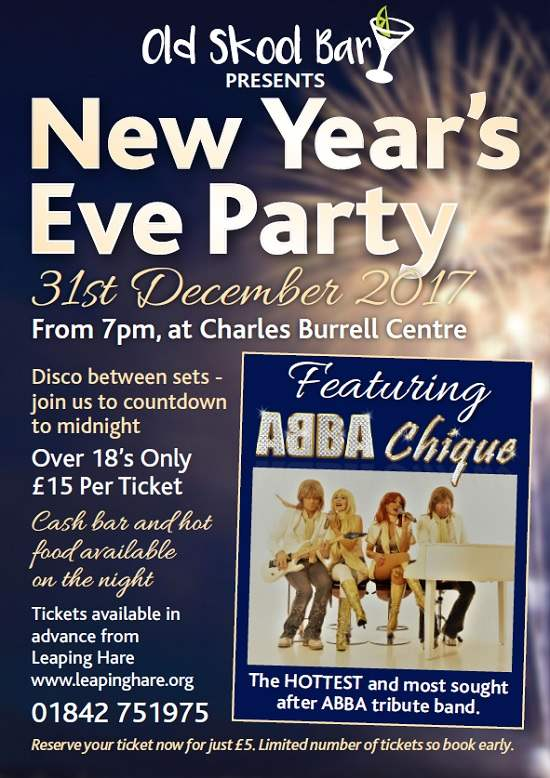 New Year's Eve Party Night featuring ABBA Chique