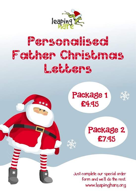 Personalised father christmas letters leaping hare spiritdancerdesigns Image collections