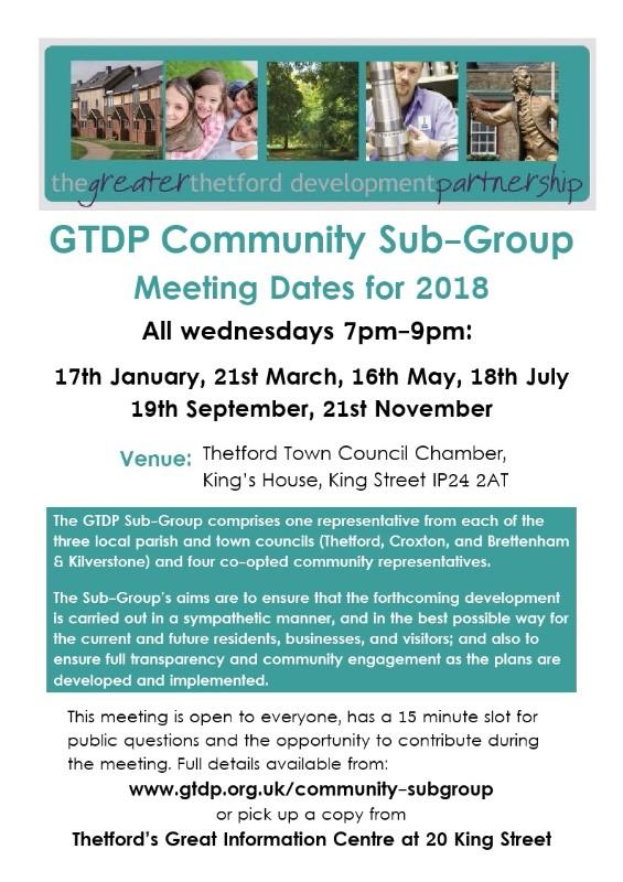 GTDP Community Sub-Group Meeting
