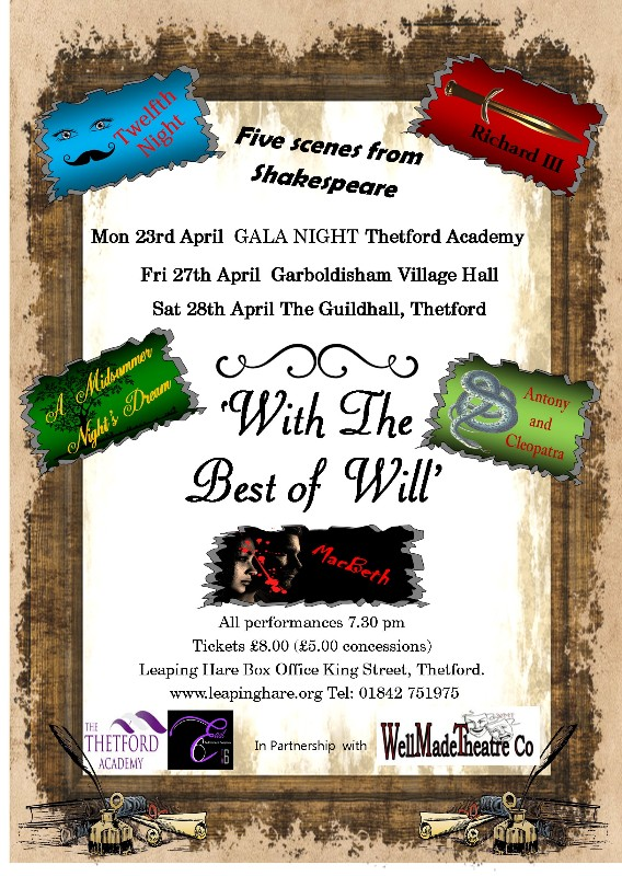 With The Best of Will - Thetford Guildhall