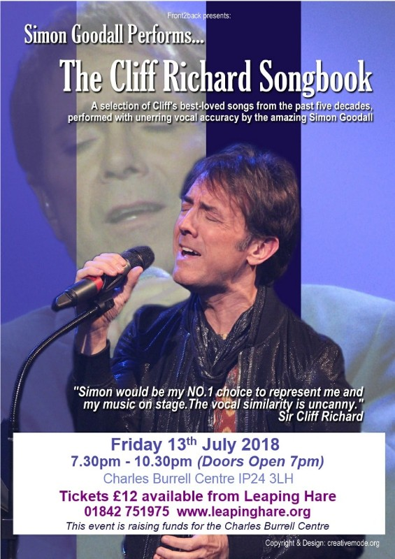 Simon Goodall performs The Cliff Richard Songbook