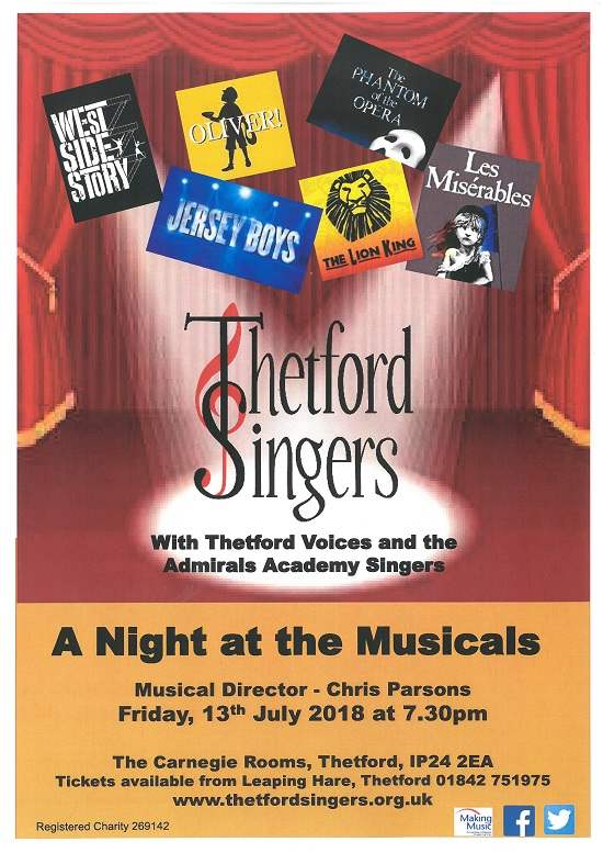 Thetford Singers A Night at The Musicals