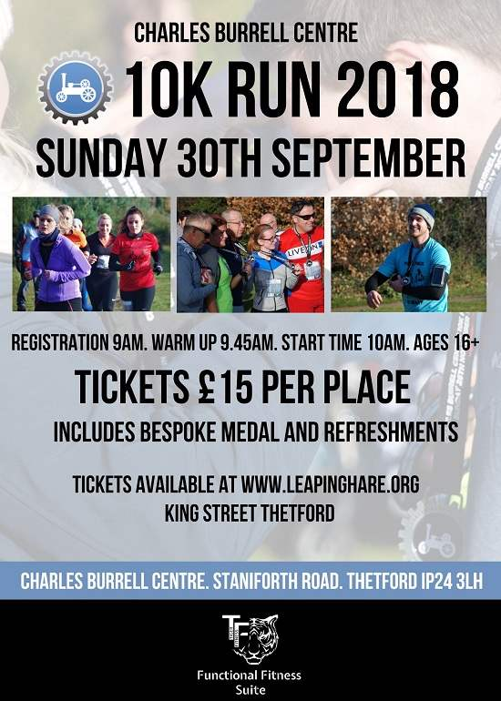Charles Burrell Centre 10K Run