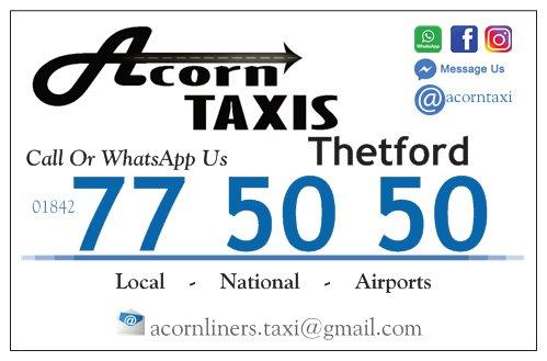 Acorn taxis Thetford