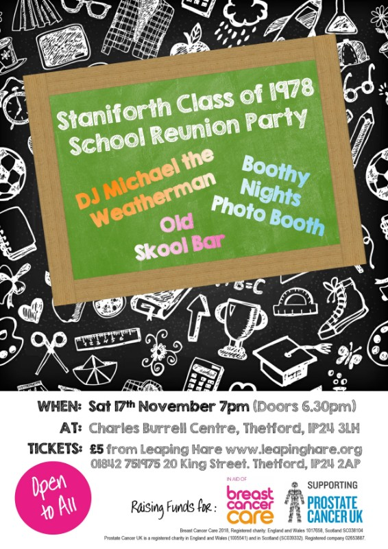 Staniforth Class of 1978 School Reunion Party