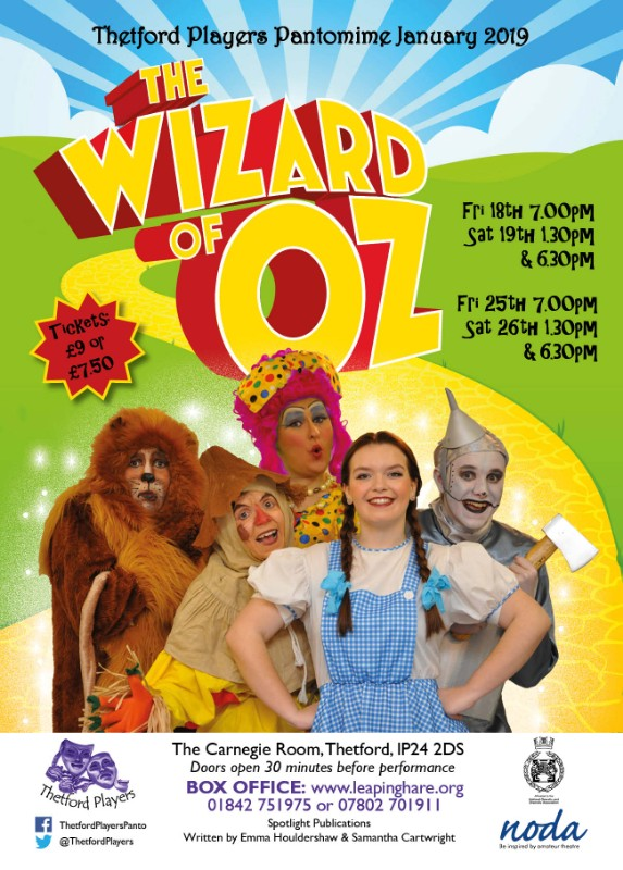 Thetford Players 'The Wizard of Oz' Pantomime