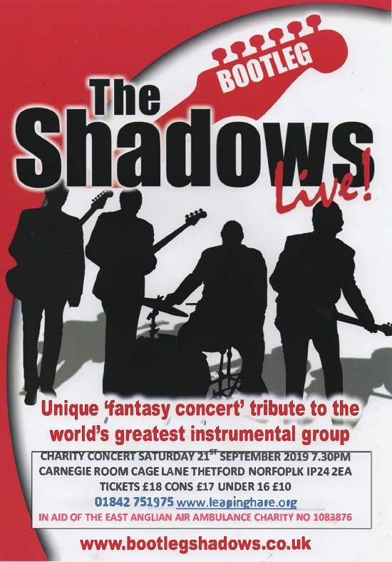 The Bootleg Shadows Live @ The Carnegie - Your Local Directory