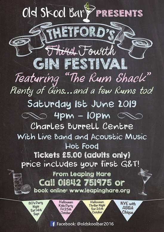 Thetford's Fourth Gin Festival