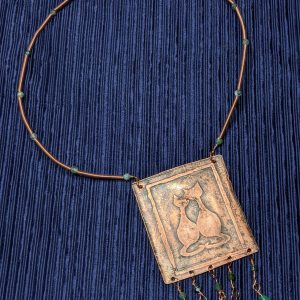 leaping hare shop etheldreda copper necklace