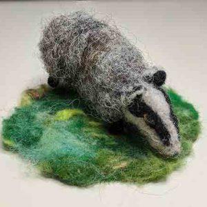 leaping hare shop hand-made felted badger