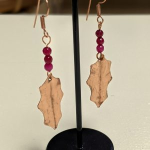 Leaping Hare shop copper earrings holly